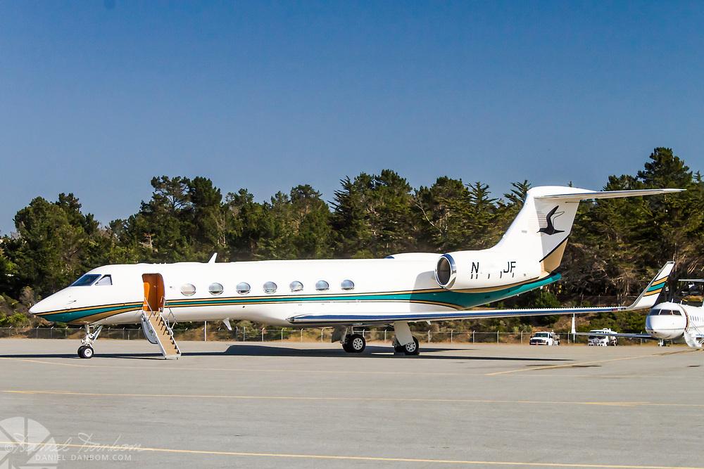 Gulfstream G550 on the ramp at MRY, Monterey, California
