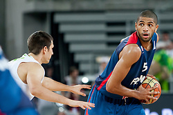 Nicolas Batum of France during last friendly match before Eurobasket 2013 between National teams of Slovenia and France on August 31, 2013 in SRC Stozice, Ljubljana, Slovenia. (Photo by Urban Urbanc / Sportida.com)