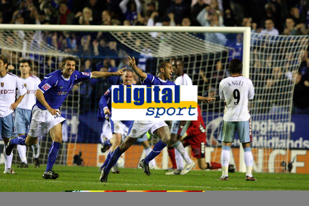 Photo: Pete Lorence.<br />Leicester City v Aston Villa. Carling Cup. 24/10/2006.<br />Leicester's Patrick Kisnorbo celebrates scoring a last minute equaliser to take the game into extra time.