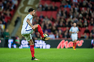 England (2) Kyle Walker during the FIFA World Cup Qualifier match between England and Slovenia at Wembley Stadium, London, England on 5 October 2017. Photo by Sebastian Frej.