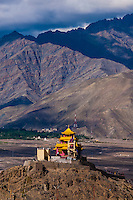 The Zangdok Pelri Temple, Leh Valley, Ladakh, Jammu and Kashmir State, India.
