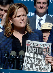 New York City Council Speaker Melissa Mark-Viverito during a visit to City Hall on Gabby Giffords' 2016 Vocal Majority Tour on October 17, 2016 in New York City, NY, USA. Giffords, along with her husband NASA astronaut Mark Kelly, are on a six-week, nationwide bus tour to battleground states asking people to vote for candidates who support gun violence prevention legislation in this coming November election. The Vocal Majority Tour is a project of their national organization, Americans for Responsible Solutions PAC. Giffords, who has made a dramatic recovery, survived an assassination attempt in 2011 near Tucson, Arizona. Photo by Dennis Van Tine/ABACAPRESS.COM