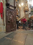 Die Grabstätte von Tycho Brahe in der Teynkirche am Altstädter Ring in Prag. Eine Gruppe von dänischen Wissenschaftlern möchte den Leichnam des Astronomen exhumieren.<br /> <br /> The grave of atronomer Tycho Brahe at Teyn Church. A team of Danish scientists sent a letter of request to a parish of Prague's Týn Church, asking permission to exhume the body of a famous Danish astronomer Tycho Brahe.