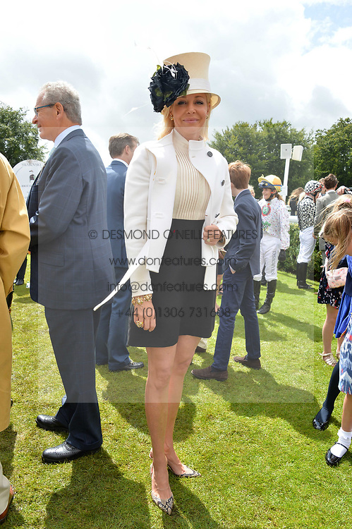 Nadja Swarovski at the Qatar Goodwood Festival, Goodwood, West Sussex England. 3 August 2017.<br /> Photo by Dominic O'Neill/SilverHub 0203 174 1069 sales@silverhubmedia.com