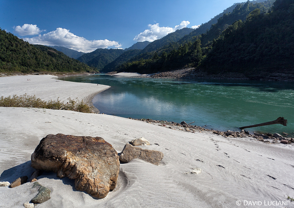 Resting at the white-sanded beach of Siang River the name used in Arunachal Pradesh for Brahmaputra River.