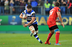 Guy Mercer of Bath Rugby - Photo mandatory by-line: Patrick Khachfe/JMP - Mobile: 07966 386802 25/10/2014 - SPORT - RUGBY UNION - Bath - The Recreation Ground - Bath Rugby v Toulouse - European Rugby Champions Cup