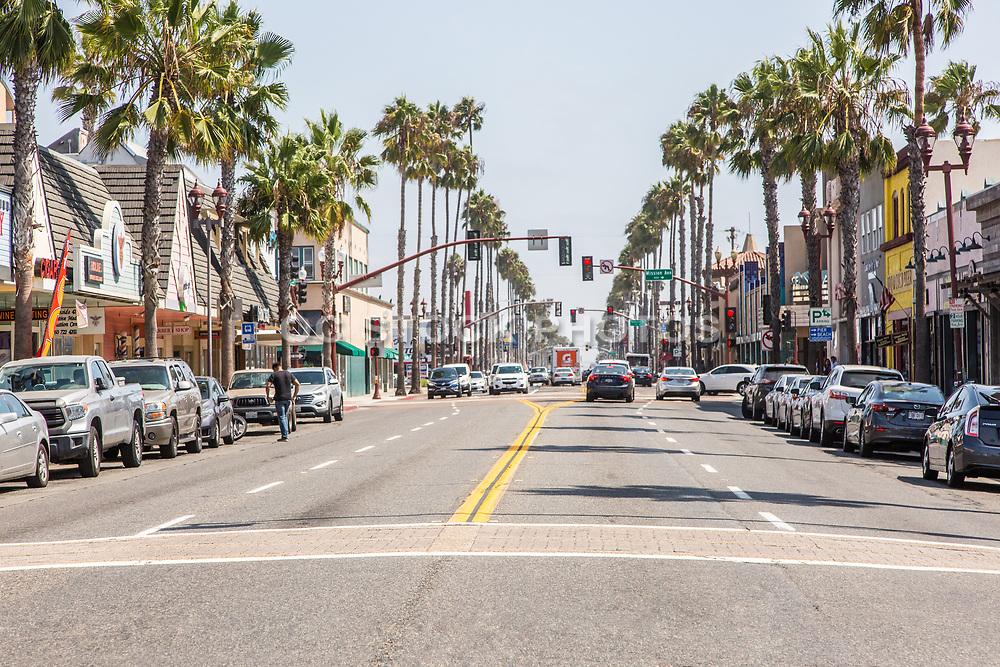Downtown Oceanside Street Scene