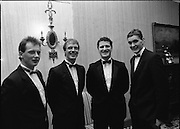 """B.O.I. GAA Allstars  (R96)..1989..03.02.1989..02.03.1989..3rd February 1989..The Awardsfor the B.O.I.Allstars were held tonight in the Burlington Hotel,Dublin. The list of the winnersis as follows..1989 - HURLING ALL STARS J. Commins (Galway), A. Fogarty (Offaly), E. Cleary (Wexford), D. Donnelly (Antrim), Conal Bonnar (Tipperary), B. Ryan (Tipperary), S. Treacy (Galway), M. Coleman (Galway), D. Carr (Tipperary), E. Ryan (Galway), Joe Cooney (Galway), O. McFetridge (Antrim), P Fox (Tipperary), Cormac Bonnar (Tipperary), N. English (Tipperary)."""" 1989 - FOOTBALL ALL STARS Gabriel Irwin (Mayo), Jimmy Browne (Mayo), Gerry Hargan (Dublin), Dermot Flanagan (Mayo); Connie Murphy (Kerry), Conor Counihan (Cork), Anthony Davis (Cork); Teddy McCarthy (Cork), Willie Joe Padden (Mayo); Dave Barry (Cork) Larry Tompkins (Cork), Noel Durkin (Mayo); Paul McGrath (Cork), Eugene McKenna (Tyrone), Tony McManus (Roscommon).""""..Pictured at the Allstars Event were football alstars, Niall Cahalane, Cork, Larry Tomkins, Cork, Coleman Corrigan, Cork and Maurice Fitzgerald, Kerry."""