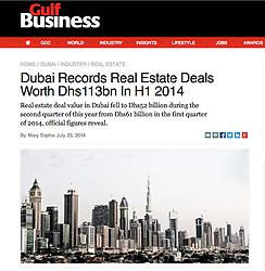 Gulf Business magazine; Skyline of Dubai