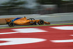 May 13, 2018 - Barcelona, Catalonia, Spain - STOFFEL VANDOORNE (BEL) drives during the Spanish GP at Circuit de Barcelona - Catalunya in his McLaren MCL33 (Credit Image: © Matthias Oesterle via ZUMA Wire)