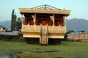 India, state of Kashmir, lake Nagin, housboats on the lake