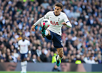 Football - 2019 / 2020 Premier League - Tottenham Hotspur vs. Watford<br /> <br /> Dele Alli (Tottenham FC)  brings the ball under control at The Tottenham Hotspur Stadium.<br /> <br /> COLORSPORT/DANIEL BEARHAM