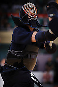 59th All Kendo Championship,  Budokan, Tokyo, Japan, November 3, 2011. Contestants from all over Japan compete doing the day-long event. Kendo is a popular martial art based on traditional Japanese swordsmanship.