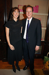 DAVID CAMERON MP leader of the Conservative party and his wife SAMANTHA CAMERON at a party to celebrate the 10th anniversary of the Smythson Fashion Diary and to the launch of the 2007 Limited Edition held at Smythson, New Bond Street, London on 25th October 2006.<br /><br />NON EXCLUSIVE - WORLD RIGHTS