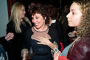 RUBY WAX; , Gala performance of  RUBY WAX- LOSING IT  in aid of  Comic Relief. Menier Theatre. London. 23 February 2011. -DO NOT ARCHIVE-© Copyright Photograph by Dafydd Jones. 248 Clapham Rd. London SW9 0PZ. Tel 0207 820 0771. www.dafjones.com.