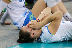 Tina Grudina of Slovenia dissapointed after the volleyball match between National team of Turkey and Slovenia in Gold Medal game of Womens U23 World Championship 2017, on September 17, 2017 in SRC Stozice, Ljubljana, Slovenia. Photo by Morgan Kristan / Sportida