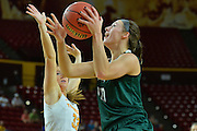 March 18, 2016; Tempe, Ariz;  Green Bay Phoenix forward Mehryn Kraker (10) goes up for a layup during a game between No. 7 Tennessee Lady Volunteers and No. 10 Green Bay Phoenix in the first round of the 2016 NCAA Division I Women's Basketball Championship in Tempe, Ariz.