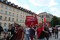 June 10, 2017 - Munich, Germany - About 200 people gathered to protest against the Bavarian ''Integration Law' (Credit Image: © Alexander Pohl/Pacific Press via ZUMA Wire)