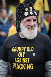 November 12, 2016 - Manchester, Greater Manchester, UK - Manchester , UK . Approximately 2000 people march and rally against Fracking in Manchester City Centre  (Credit Image: © Joel Goodman/London News Pictures via ZUMA Wire)