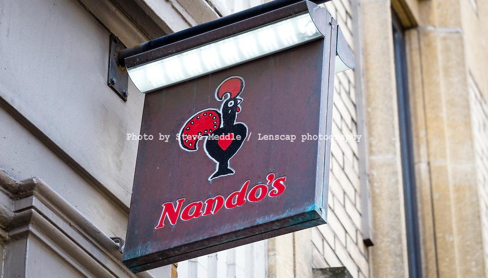 Nando's Restaurant Sign - May 2014.