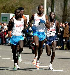 09-04-2006 ATLETIEK: FORTIS MARATHON: ROTTERDAM<br /> De Keniaan Sammy Korir (1) heeft de 26e editie van de marathon van Rotterdam op zijn naam geschreven. rechts Charles Kibiwott (3de), links Paul Kiprop Kirui (2de) en achterin Dejene Birhanu<br /> ©2006-WWW.FOTOHOOGENDOORN.NL
