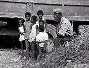 Old Man with Children in Jamaica