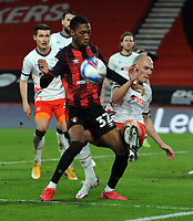 Football - 2020 /2021 Sky Bet Championship - AFC Bournemouth vs Luton Town - Vitality Stadium<br /> <br /> Jaidon Anthony of Bournemouth tussles with Kai Naismith of Luton<br /> <br /> COLORSPORT/ANDREW COWIE
