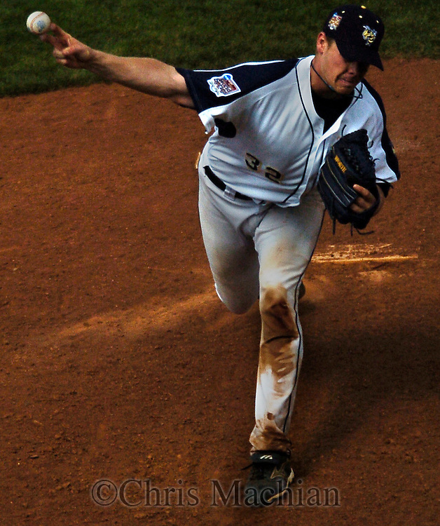 06/18/2006 Georgia Tech reliever Matt Wieters comes in to pitch after starting the game at catcher during game five of the College World Series in Omaha Nebraska Sunday afternoon..(photo by Chris Machian /Prairie Pixel Group)