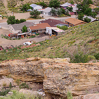 070315       Cable Hoover<br /> <br /> The steep, rocky cliff southeast of Sky City Park is another of the Diocese's landlocked parcels.