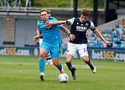 Derby County's Martyn Waghorn and Jayson Molumby of Millwall during EFL Sky Bet Championship between Millwall and Derby County at The Den Stadium, Saturday, June 20, 2020, in London, United Kingdom. (ESPA-Images/Image of Sport)