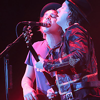 Carl Barât and Pete Doherty of The Libertines at The Manchester Phones4U Arena on the second night of their Anthems For Doomed Youth Tour