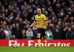 David Mirfin of Scunthorpe United - Mandatory byline: Robbie Stephenson/JMP - 10/01/2016 - FOOTBALL - Stamford Bridge - London, England - Chelsea v Scunthrope United - FA Cup Third Round
