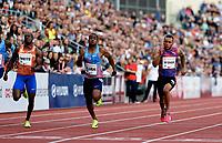 Friidrett , 15. juni 2017 ,  Diamond League , Bislett Games<br /> Andre de Grasse , Can 100 m , Vhijindu Ujah , Ben Youssef Meite