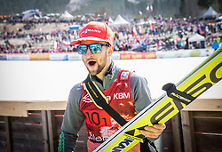 Markus Eisenbichler (GER) celebrates after the the Ski Flying Hill Men's Team Competition at Day 3 of FIS Ski Jumping World Cup Final 2017, on March 25, 2017 in Planica, Slovenia. Photo by Vid Ponikvar / Sportida