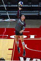 BLOOMINGTON, IL - September 28: Katy Kluge during a college Women's volleyball match between the ISU Redbirds and the Southern Illinois Salukis on September 28 2019 at Illinois State University in Normal, IL. (Photo by Alan Look)
