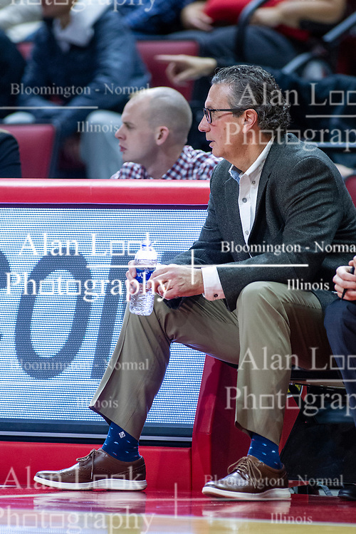 NORMAL, IL - January 29:  Todd Lickliter during a college basketball game between the ISU Redbirds and the University of Evansville Purple Aces on January 29 2020 at Redbird Arena in Normal, IL. (Photo by Alan Look)