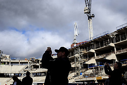 19 March 2017 - Premier League - Tottenham Hotspur v Southampton - Fans admire the construction work on the new stadium at White Hart Lane - Photo: Marc Atkins / Offside.