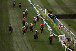 Ubak ridden by jockey Joshua Moore (right) wins the Gaskells Waste Management Handicap Hurdle ahead of If In Doubt ridden by Barry Geraghty during Grand National Day of the Crabbie's Grand National Festival at Aintree Racecourse, Liverpool.