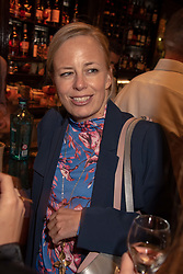 Astrid Harbord at the launch of Mr Fogg's Society of Exploration, 1a Bedford Street, London,  England. 13 September 2018.