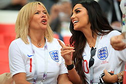 Ruby Mae, girlfirend of England's Dele Alli (rigtht) in the stands ahead of the FIFA World Cup 2018, round of 16 match at the Spartak Stadium, Moscow.