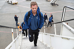 October 2, 2018 - Oostende, BELGIUM - Club's Mats Rits pictured during the departure of Belgian soccer team Club Brugge KV for Mardid, Spain, Tuesday 02 October 2018 at Oostende Airport. Tomorrow Club will meet Spanish club Atletico Madrid on day two the UEFA Champions League, in group A. BELGA PHOTO BRUNO FAHY (Credit Image: © Bruno Fahy/Belga via ZUMA Press)