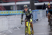 Belgium, Sunday 13th December 2015: Sven Nys on lap 2 of the elite men's and race at the Hansgrohe Superprestige cyclocross revent at Spa Francorchamps.<br /> <br /> Copyright 2015 Peter Horrell
