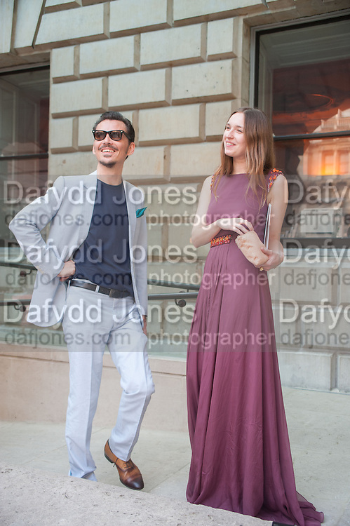 MATTHEW WILLIAMSON; VALENTINE FILLOL CORDIER, Celebration of the Arts. Royal Academy. Piccadilly. London. 23 May 2012.