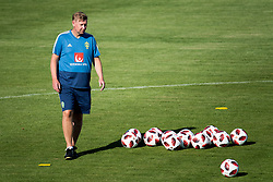 July 4, 2018 - Gelendzhik, Russia - 180704 Assistant coach Peter Wettergren  of the Swedish national football team at a practice session during the FIFA World Cup on July 4, 2018 in Gelendzhik..Photo: Petter Arvidson / BILDBYRÃ…N / kod PA / 92081 (Credit Image: © Petter Arvidson/Bildbyran via ZUMA Press)