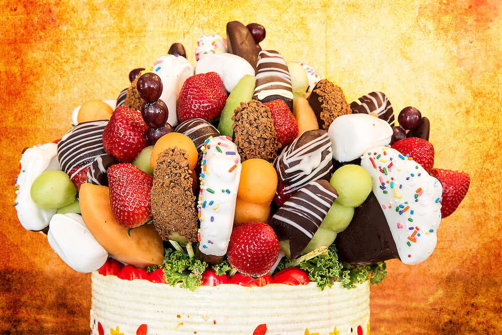 A chocolate dipped fruit basket my wife got me from Edible Arrangements