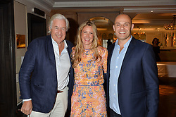 Left to right, MARTIN SUMMERS, GEORGINA COHEN and her husband JONATHAN KRON at a the Fortnum's X Frank private view - an instore exhibition of over 60 works from Frank Cohen's collection at Fortnum & Mason, 181 Piccadilly, London on 12th September 2016.