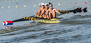 Plovdiv BULGARIA. 2017 FISA. Rowing World U23 Championships. <br /> USA BW4X. Bow. CAVALLO, Christine, DELLEMAN, Emily, MOODY, Savannah and GUTKNECHT, Meghan<br /> Wednesday. PM,  Heats 17:16:53  Wednesday  19.07.17   <br /> <br /> [Mandatory Credit. Peter SPURRIER/Intersport Images].