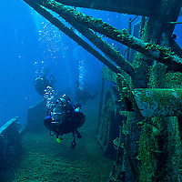 Exploration, main deck, looking from bow to stern, USS Kittiwake