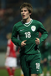 Valter Birsa (18) of Slovenia during the UEFA Friendly match between national teams of Slovenia and Denmark at the Stadium on February 6, 2008 in Nova Gorica, Slovenia. Slovenia lost 2:1. (Photo by Vid Ponikvar / Sportal Images).