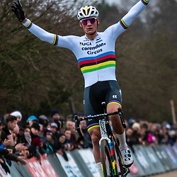 21-12-2019: Cycling : Waaslandcross Sint Niklaas: Mathieu van der Poel(NED) takes his 11th win